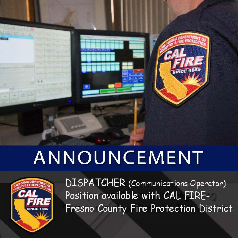 dispatcher communications operator position for calfire fresno